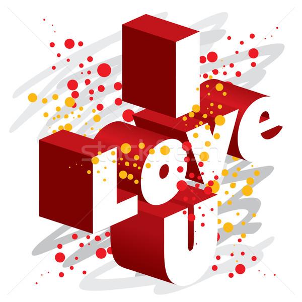 Liefde behang liefhebbers romantiek creatieve Stockfoto © UltraPop