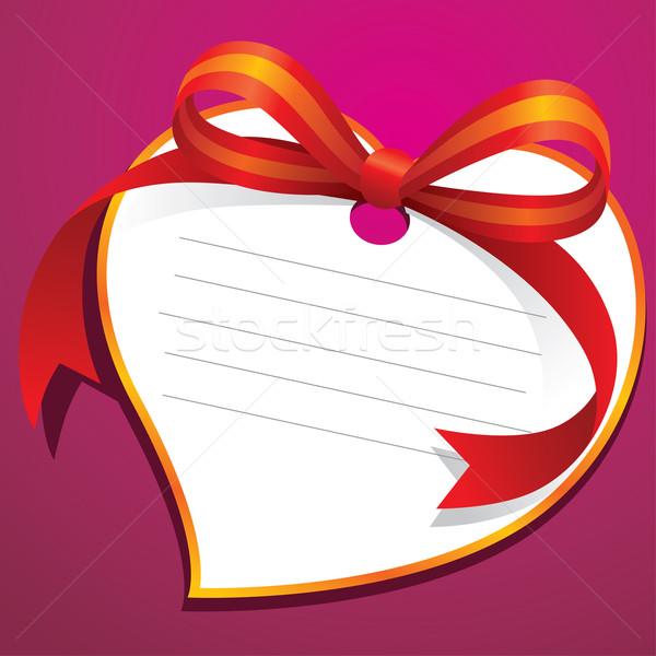 Sevmek etiket şerit örnek düğün hediye Stok fotoğraf © UltraPop