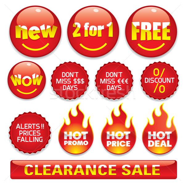 Satış düğmeler düğme ayarlamak iş Stok fotoğraf © UltraPop