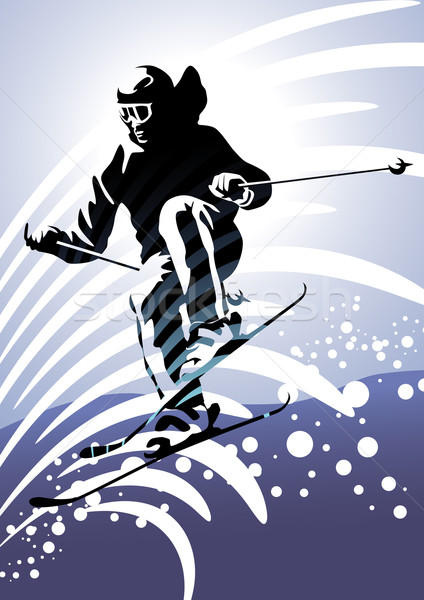 Downhill Skiing Stock photo © UltraPop