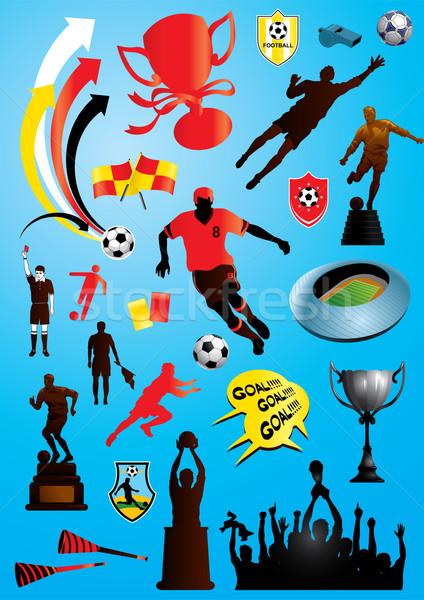 Voetbal collectie vector collage veel voetbal Stockfoto © UltraPop