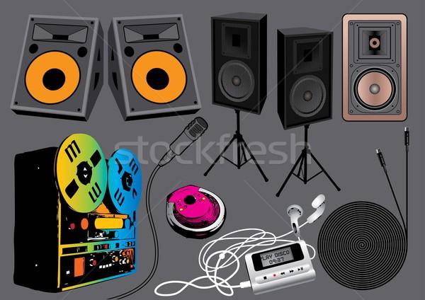 Müzik nesneler ayarlamak görüntü benim Stok fotoğraf © UltraPop
