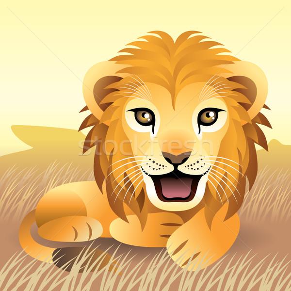 Leão mais animais meu pasta Foto stock © UltraPop