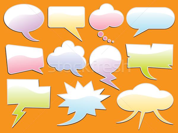 Kelime kabarcık ayarlamak farklı kabarcıklar metin Stok fotoğraf © UltraPop