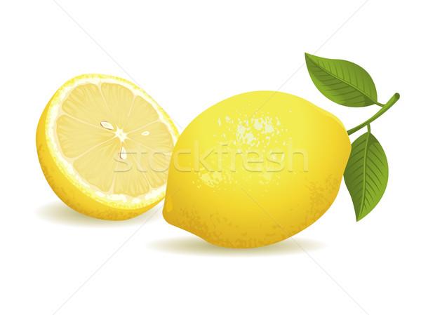 лимона фрукты реалистичный лист энергии Сток-фото © UltraPop