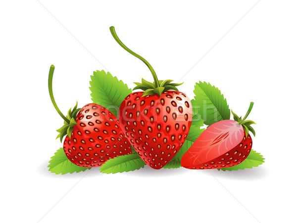 клубника фрукты реалистичный клубники природы Сток-фото © UltraPop