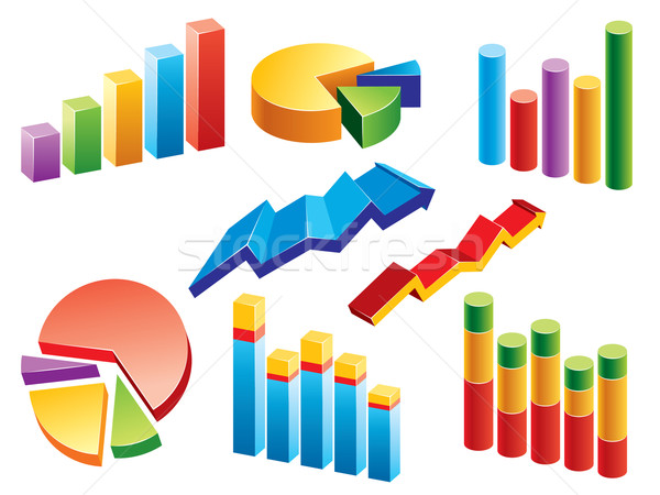 Business Graphs Stock photo © UltraPop