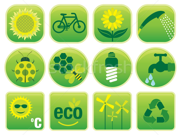 Medio ambiente iconos vector establecer ambiental amistoso Foto stock © UltraPop