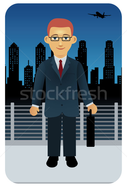 Işadamı erkek şehir evrak çantası görüntü Stok fotoğraf © UltraPop