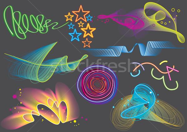 Renkli ışık ayarlamak görüntü Stok fotoğraf © UltraPop