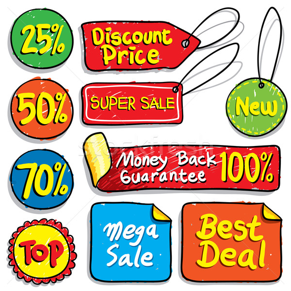 продажи Этикетки скидка Label вектора набор Сток-фото © UltraPop