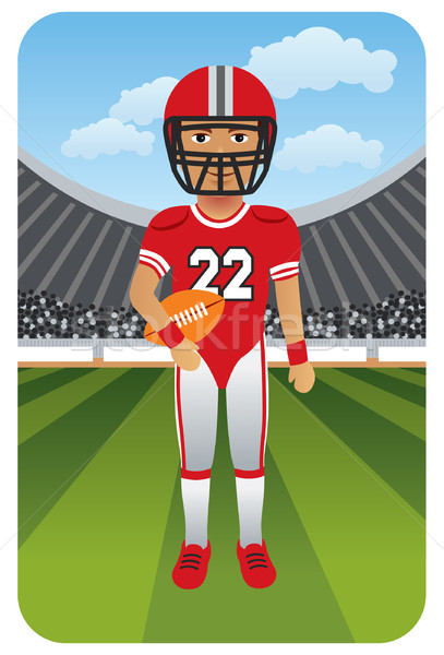 American Football Player Stock photo © UltraPop