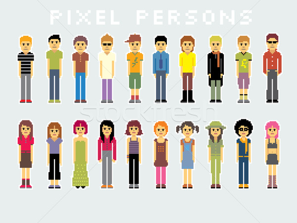 Pixel People Stock photo © UltraPop