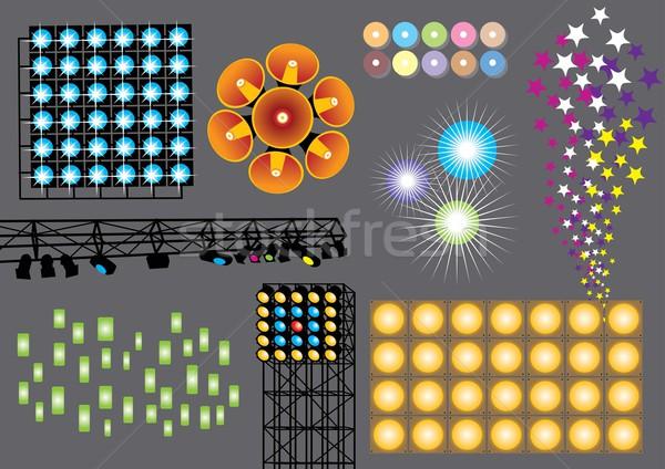 ışık vektör ayarlamak ışıklar görüntü Stok fotoğraf © UltraPop