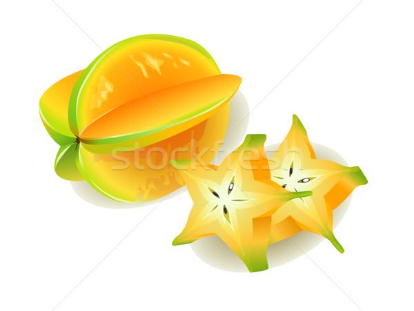 Gerçekçi meyve taze tatlı yemek diyet Stok fotoğraf © UltraPop