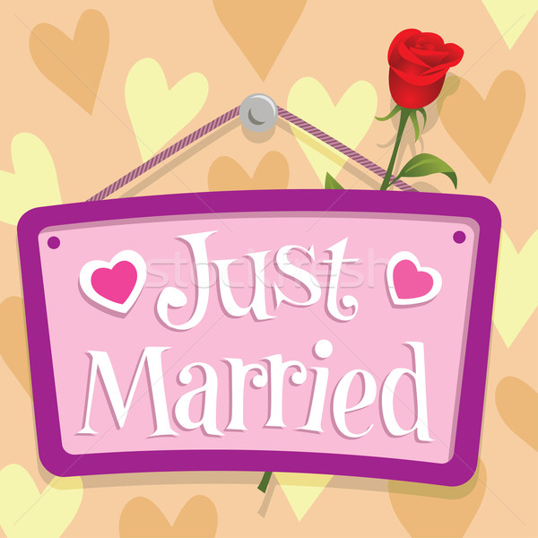 Just Married Sign Stock photo © UltraPop