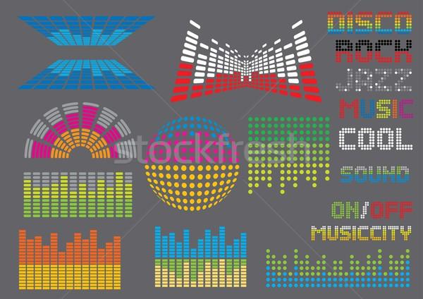 Foto stock: Sonido · ecualizador · establecer · imagen · mi · música