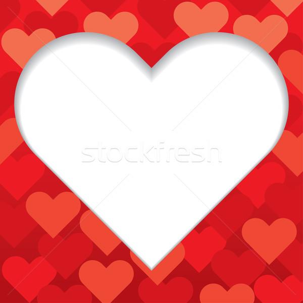 Kırmızı kalp valentine örnek sevmek dizayn Stok fotoğraf © UltraPop