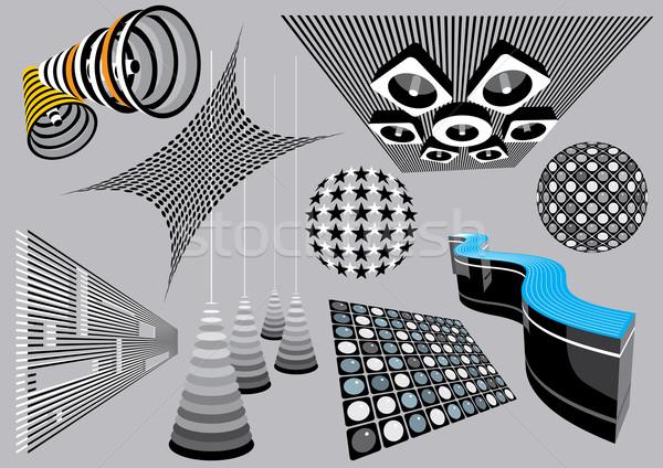 Mimari elemanları ayarlamak görüntü benim müzik Stok fotoğraf © UltraPop
