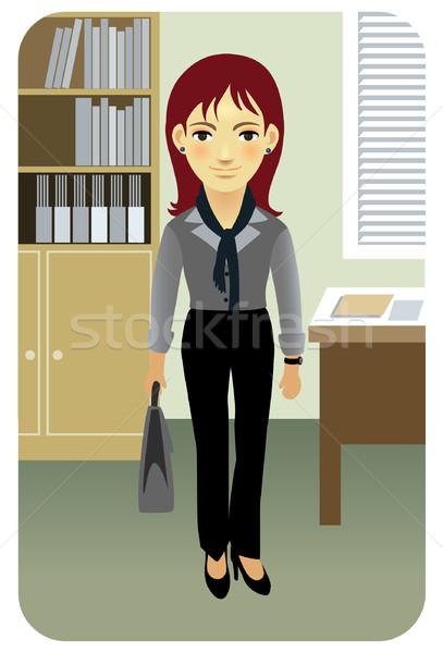 Iş kadını ofis kadın finanse müdür Dosyaları Stok fotoğraf © UltraPop
