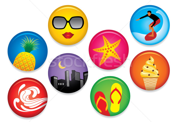 Summer Badges Stock photo © UltraPop