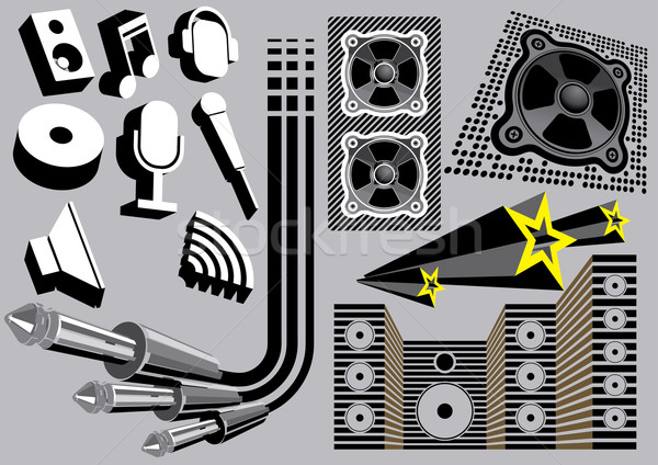 Geluid communie ingesteld afbeelding mijn muziek Stockfoto © UltraPop