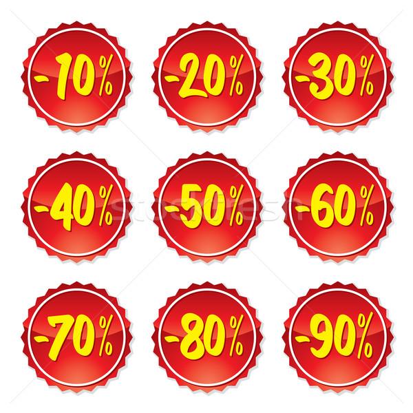 Kiárusítás ár címkék címke gyűjtemény bolt Stock fotó © UltraPop