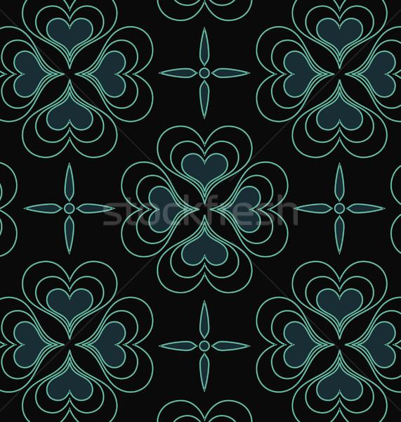 Tapéta minta szív alakú fekete grafikus Stock fotó © UltraPop