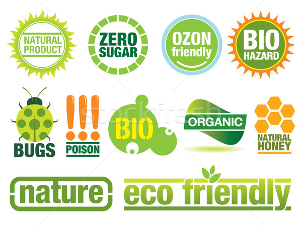 Ecology Labels Stock photo © UltraPop