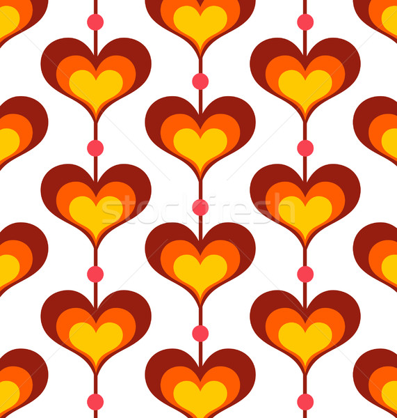 Corazón patrón sin costura retro wallpaper arte Foto stock © UltraPop