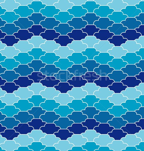 Abstrato ondas azul oceano fundo chuva Foto stock © UltraPop
