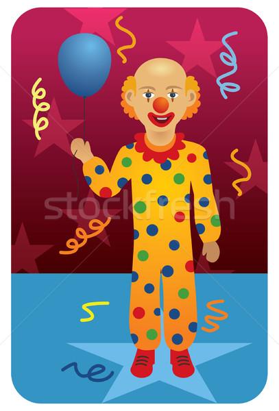 Clown mannelijke circus afbeelding mijn beroep Stockfoto © UltraPop