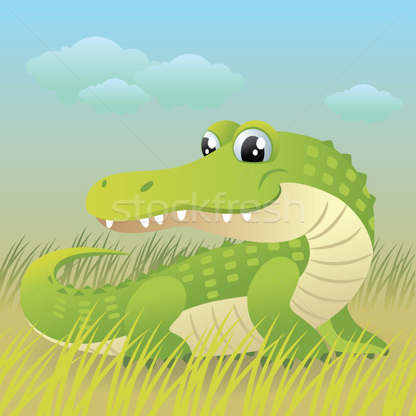 Krokodil cartoon cute baby meer dieren Stockfoto © UltraPop