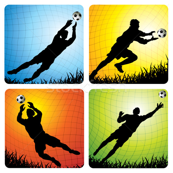 Stockfoto: Voetbal · vector · illustraties · bal · sport