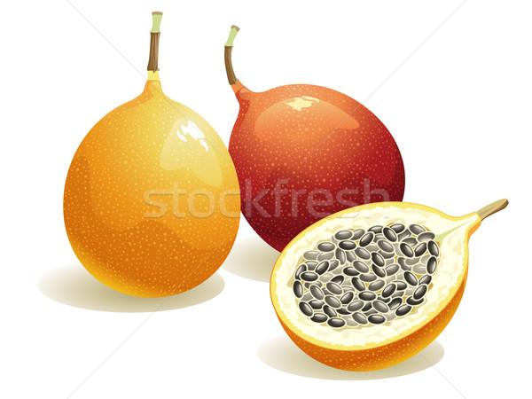 Passie vruchten realistisch half energie ijzer Stockfoto © UltraPop