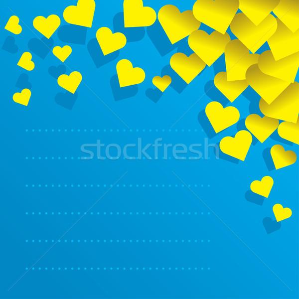 Miłości list ilustracja serca papieru kopercie Zdjęcia stock © UltraPop