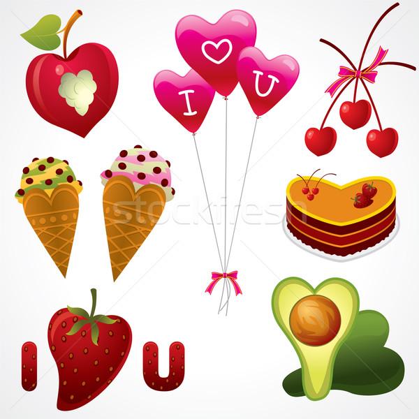 продовольствие любви вектора набор различный Сток-фото © UltraPop
