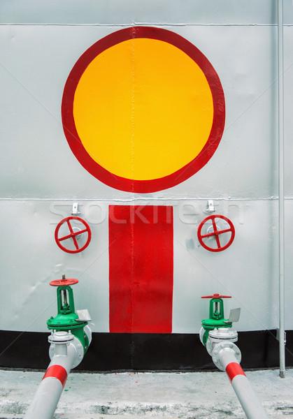 Portão armazenamento tanque construção Óleo energia Foto stock © ultrapro