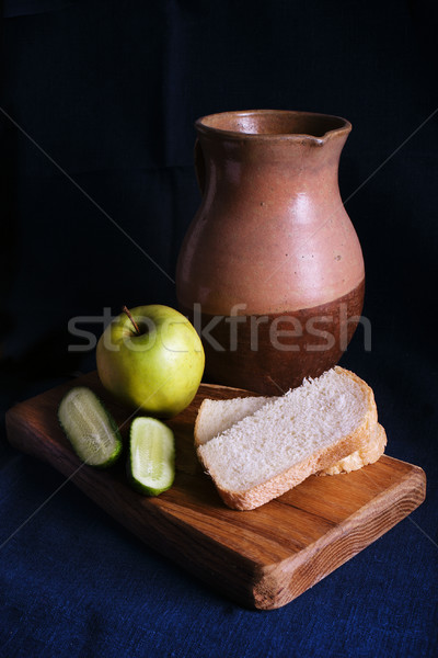 Still Life with old Jug and apple Stock photo © ultrapro
