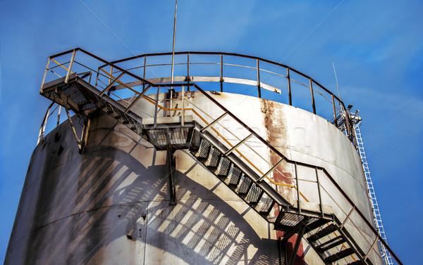 Groot olie tank schemering hemel Stockfoto © ultrapro