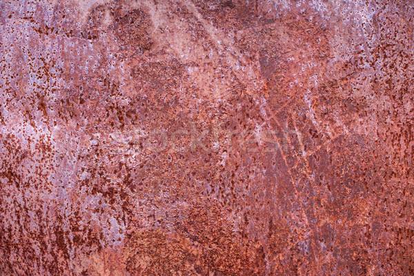 Textura enferrujado aço vermelho construção laranja Foto stock © ultrapro