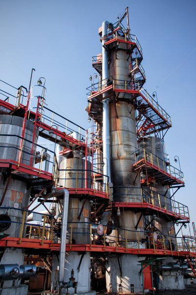 distillation columns on the fuel production Stock photo © ultrapro