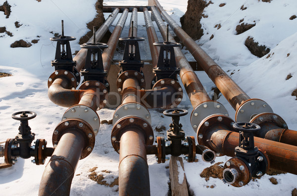 Óleo alto tubo linha água abstrato Foto stock © ultrapro