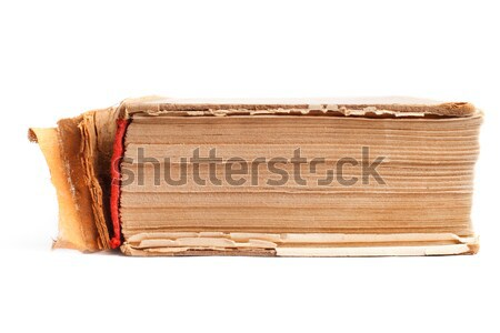Old thick book on the white Stock photo © ultrapro
