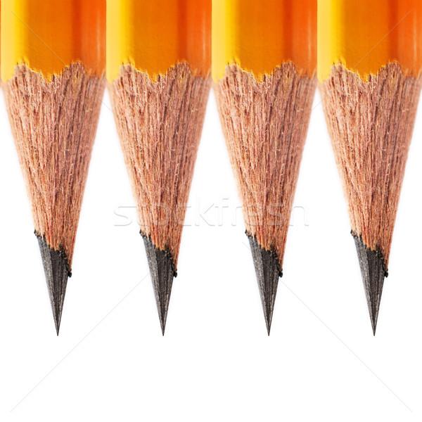 Macro semplice matita isolato bianco Foto d'archivio © ultrapro