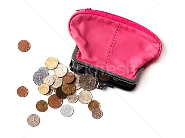 ピンク 革 財布 コイン いくつかの 異なる ストックフォト © ultrapro