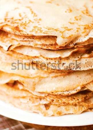 Crepe amarillo marrón alimentos textura salud Foto stock © ultrapro