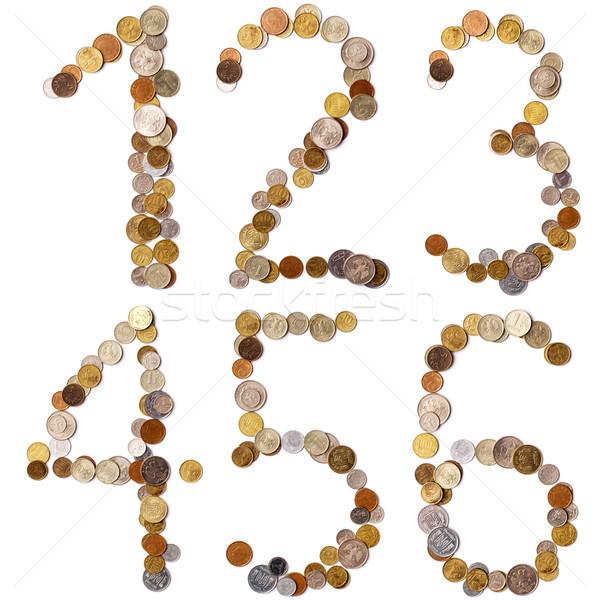 Alfabeto lettere monete diverso paesi lettera Foto d'archivio © ultrapro