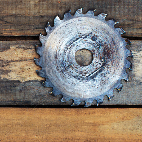 circular saw blade on the boards Stock photo © ultrapro