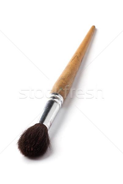 Nieuwe groot penseel witte hout werk Stockfoto © ultrapro